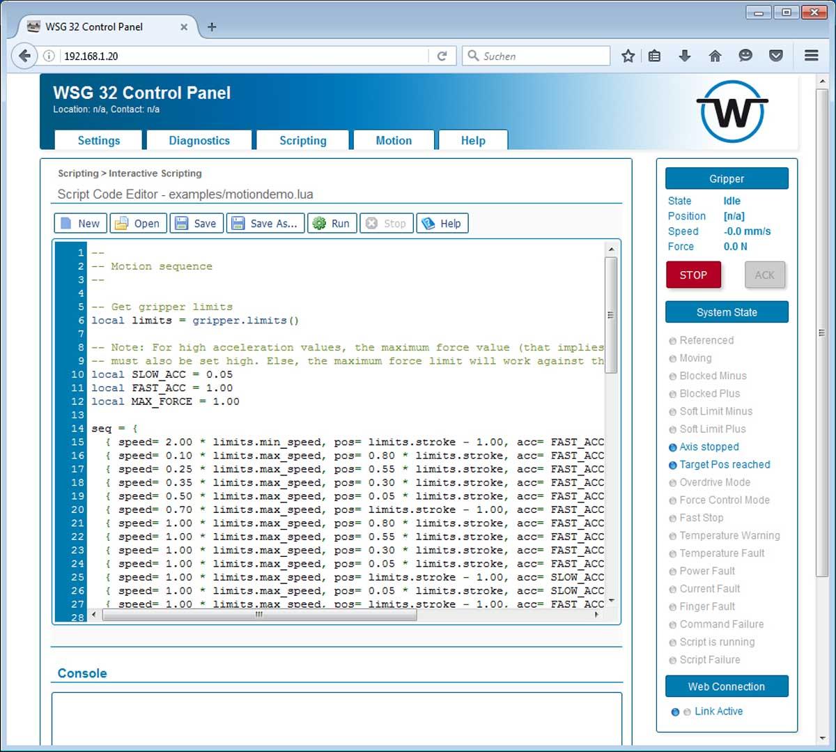 WSG series - WSG series   WEISS ROBOTICS